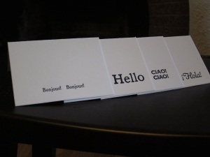 International Hello Letterpress Notecards