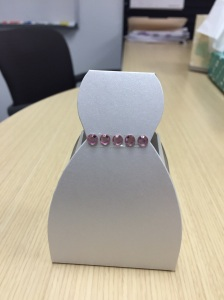 Dress Box with Pink Bling