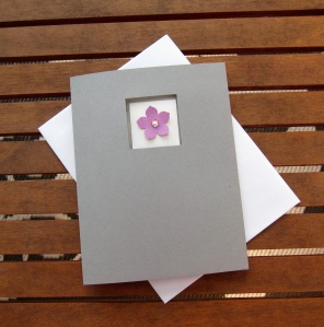 Cute and quick flower card