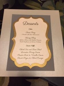 All the desserts sound so tasty!